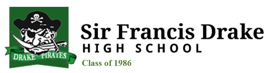 Sir Francis Drake High School Banner_Class of 1986